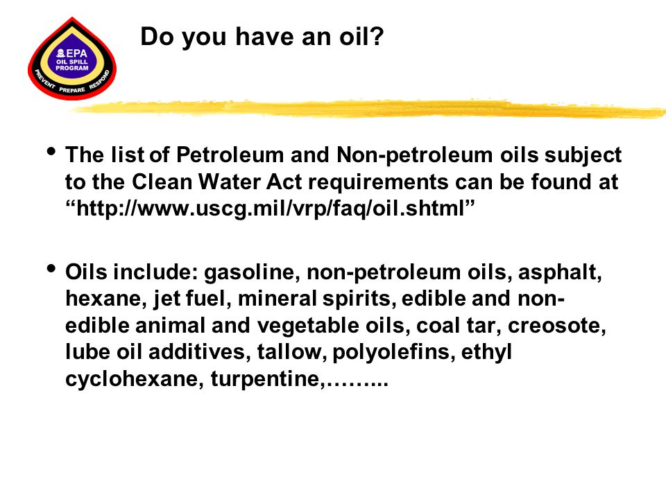 Do you have an oil