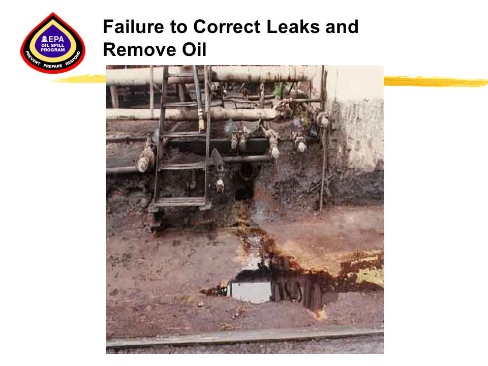 Failure to Correct Leaks and Remove Oil