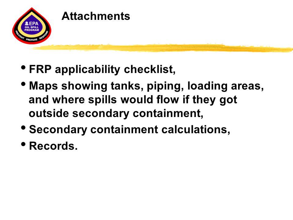 Attachments FRP applicability checklist,