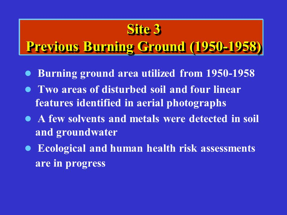 Site 3 Previous Burning Ground (1950-1958)
