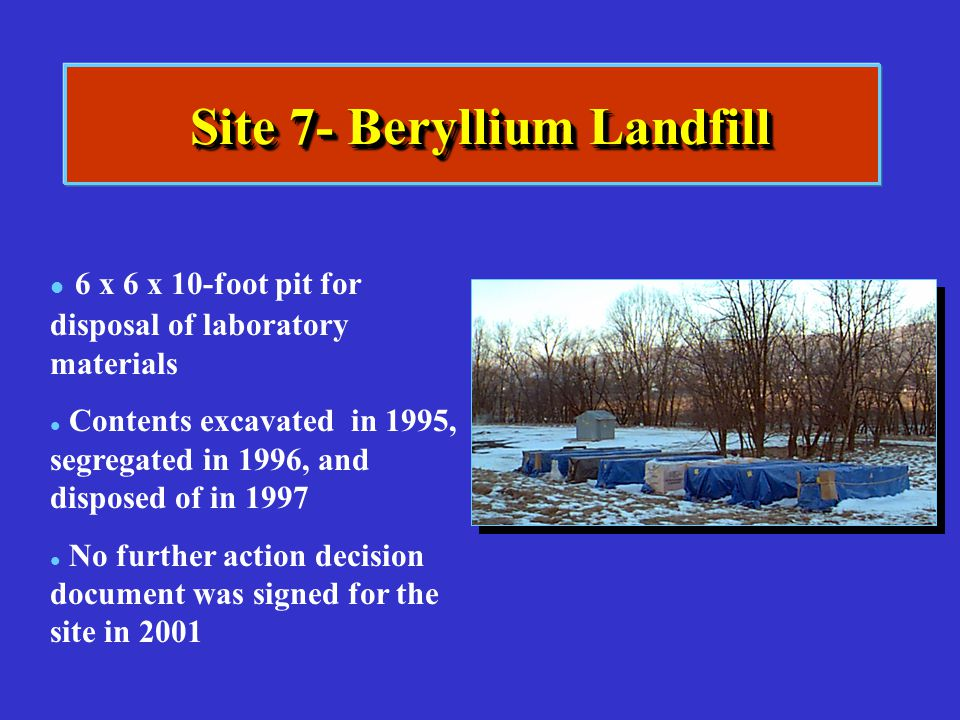 Site 7- Beryllium Landfill