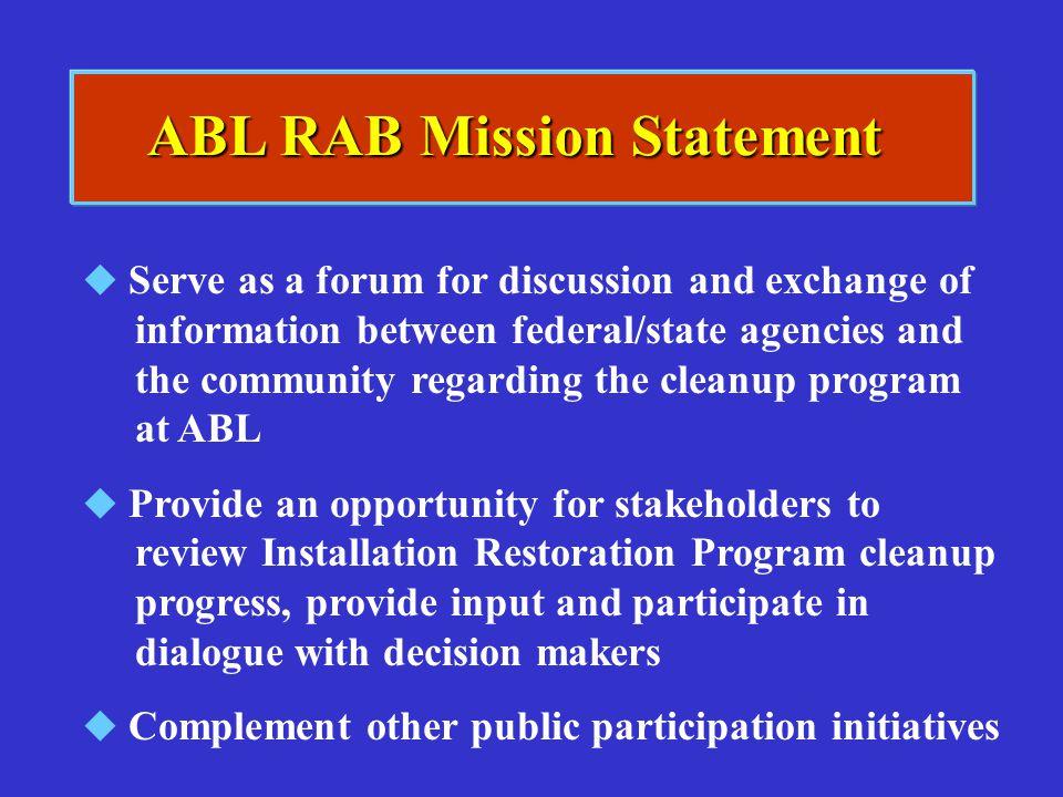 ABL RAB Mission Statement