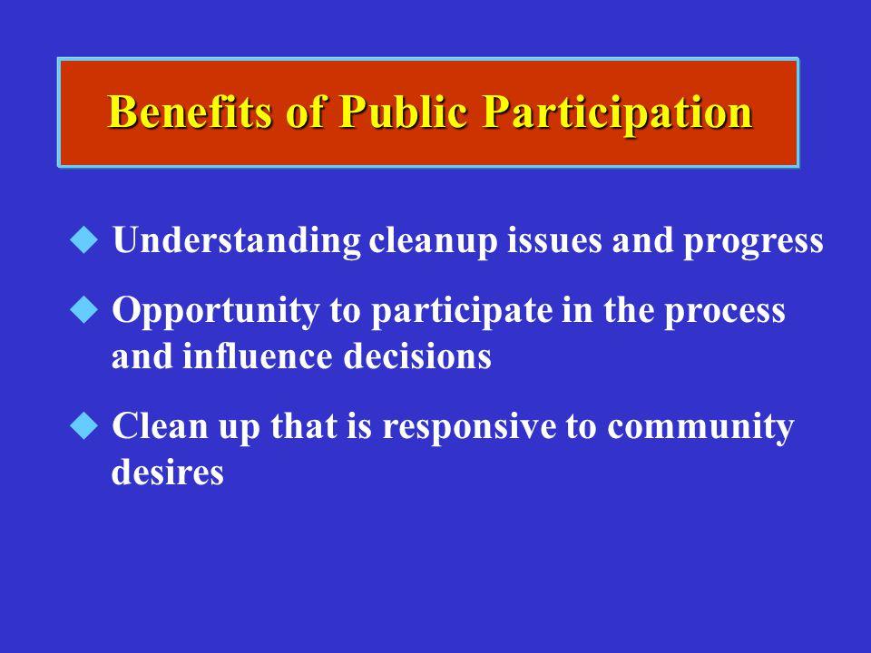 Benefits of Public Participation