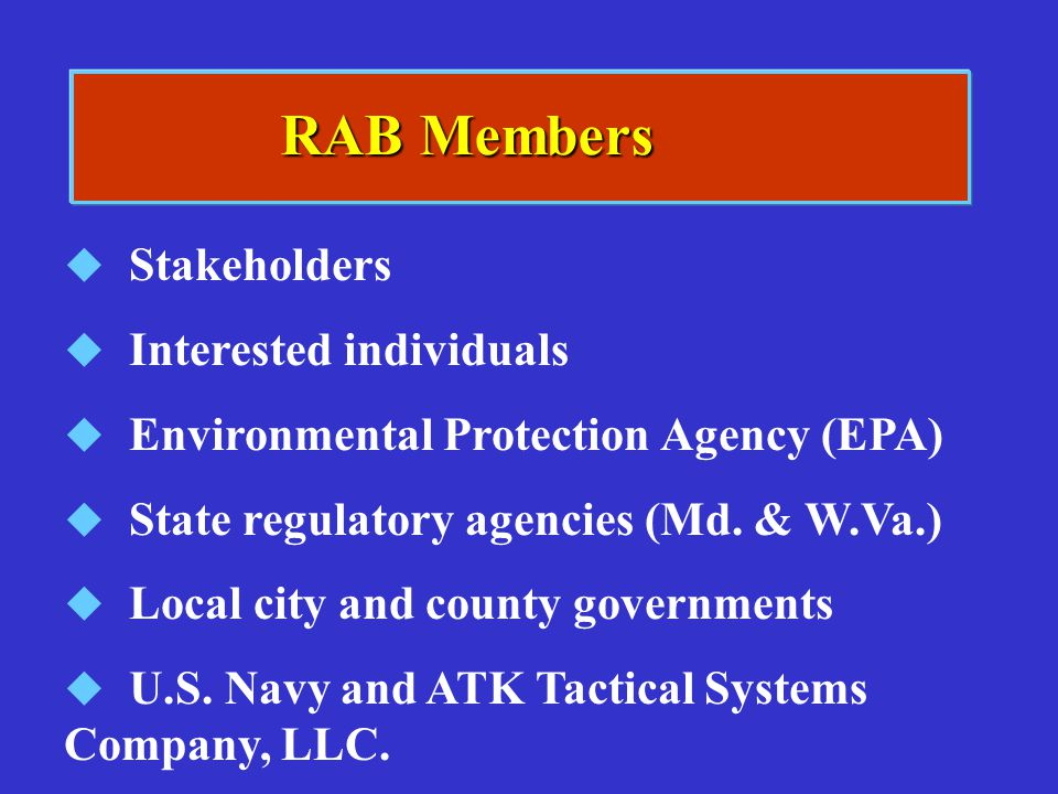 RAB Members Stakeholders Interested individuals