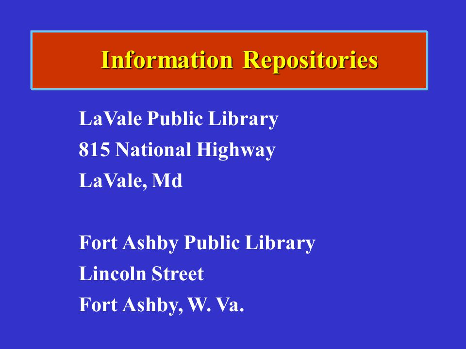 Information Repositories
