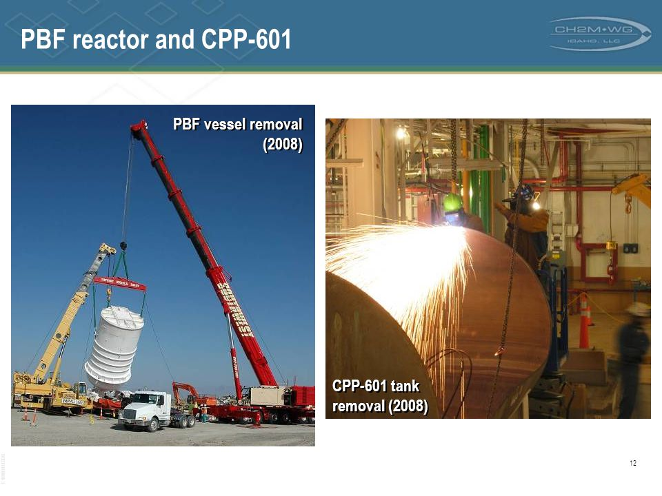 PBF reactor and CPP-601 PBF vessel removal (2008)