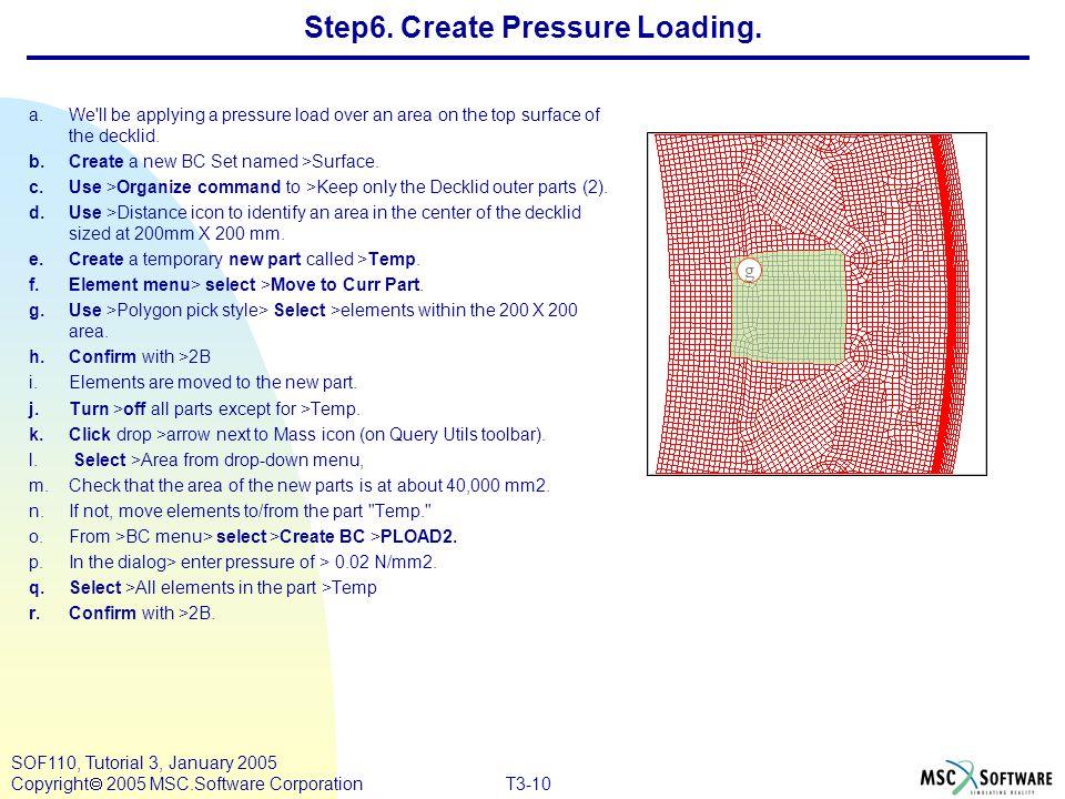 Step6. Create Pressure Loading.