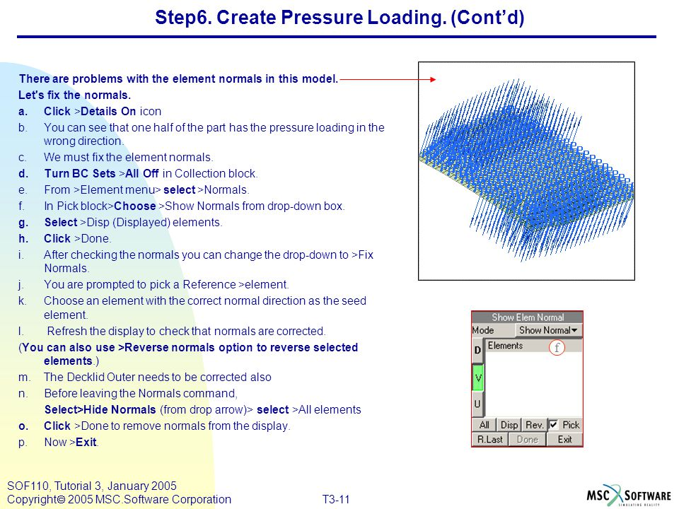 Step6. Create Pressure Loading. (Cont'd)