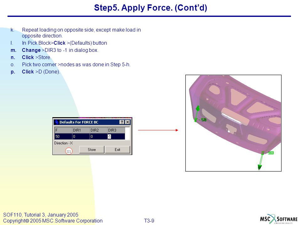 Step5. Apply Force. (Cont'd)
