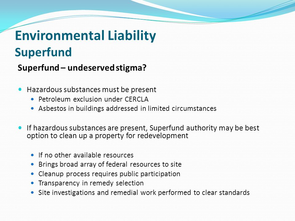 Environmental Liability Superfund