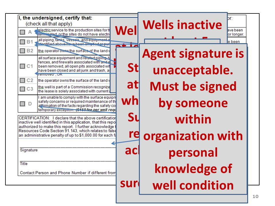 Wells inactive at least 5 years but less than 10