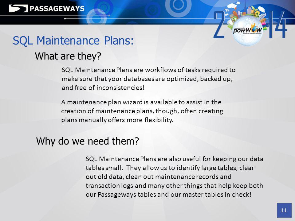 SQL Maintenance Plans:
