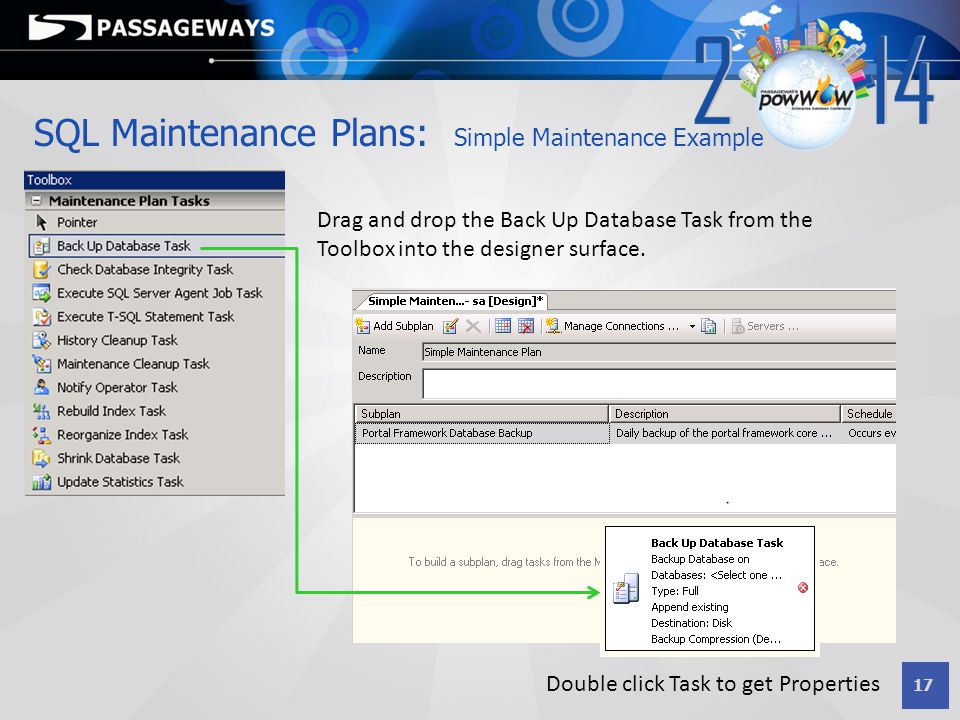 SQL Maintenance Plans: Simple Maintenance Example