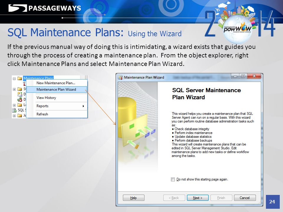 SQL Maintenance Plans: Using the Wizard