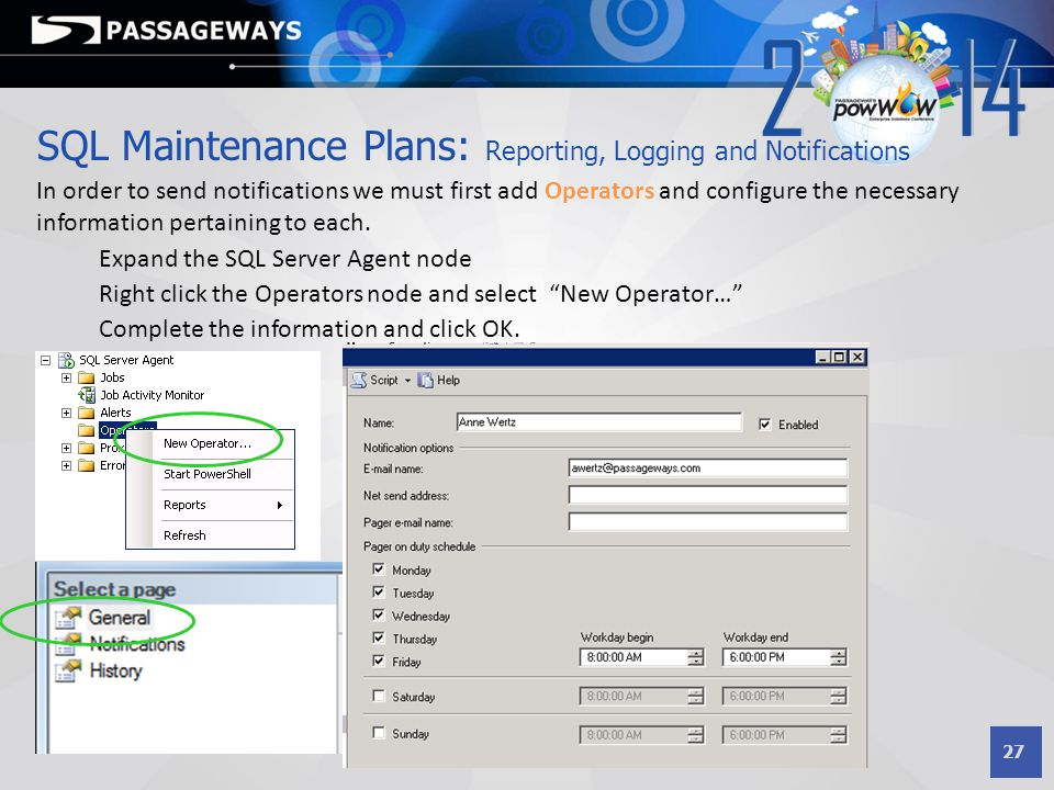 SQL Maintenance Plans: Reporting, Logging and Notifications