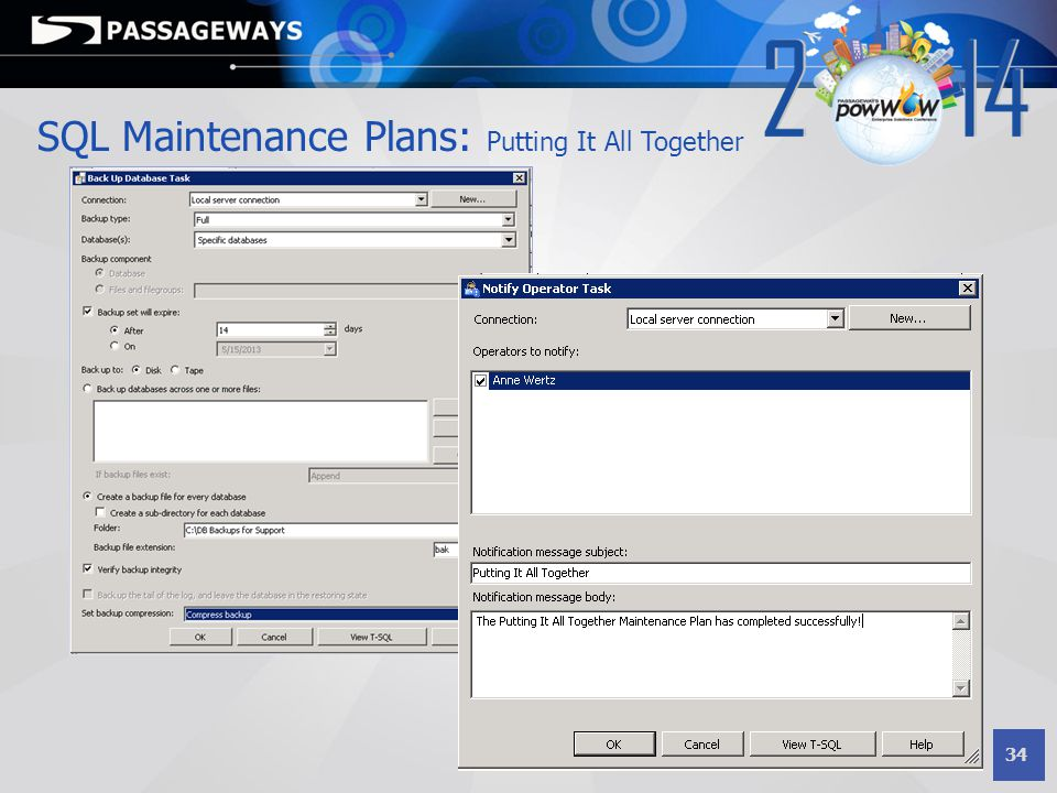 SQL Maintenance Plans: Putting It All Together