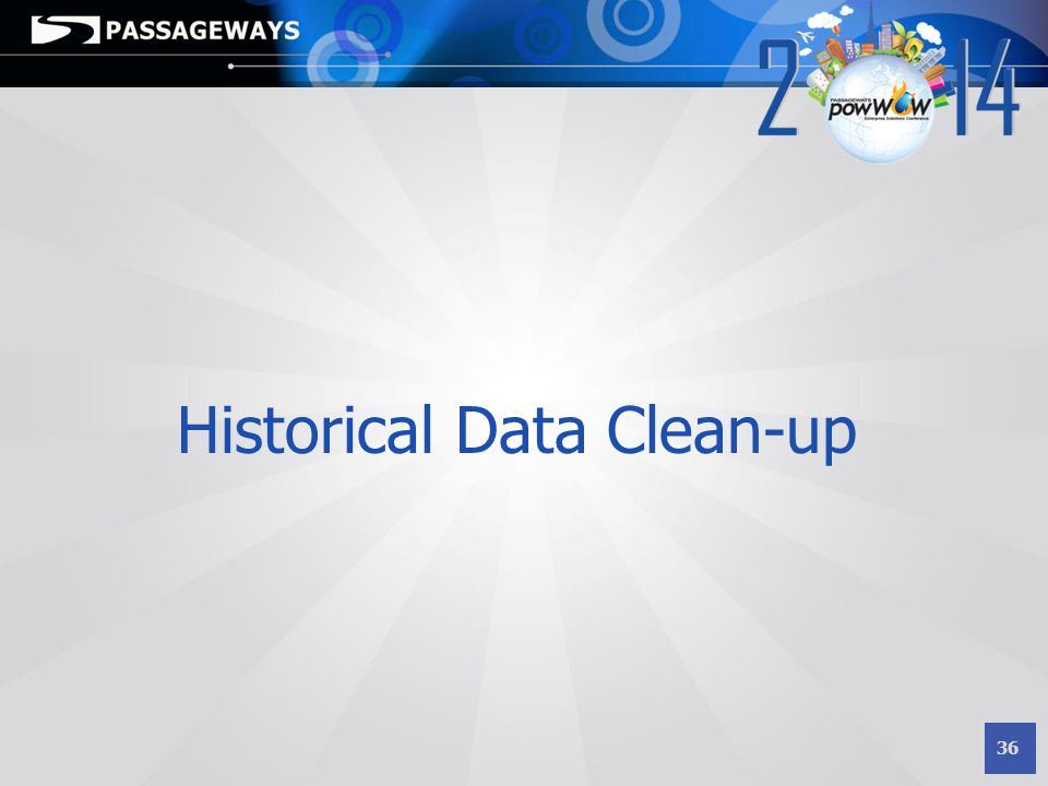 Historical Data Clean-up