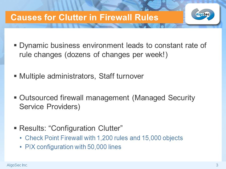 Causes for Clutter in Firewall Rules