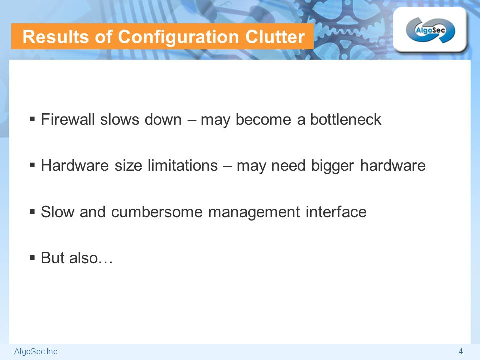 Results of Configuration Clutter