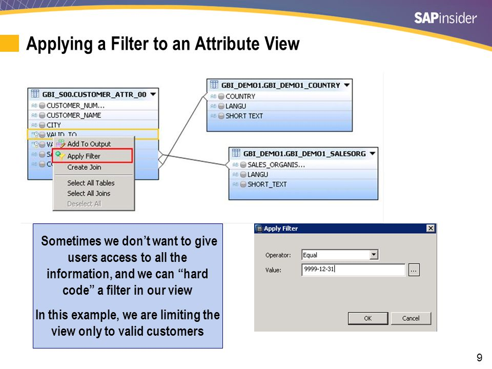 Deciding What Users Should See and Assigning Key Attribute
