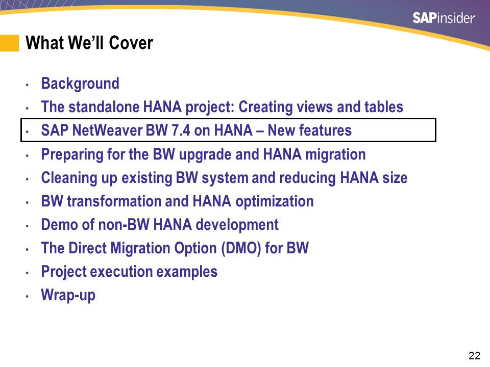 New Business Content Optimized for BW on HANA