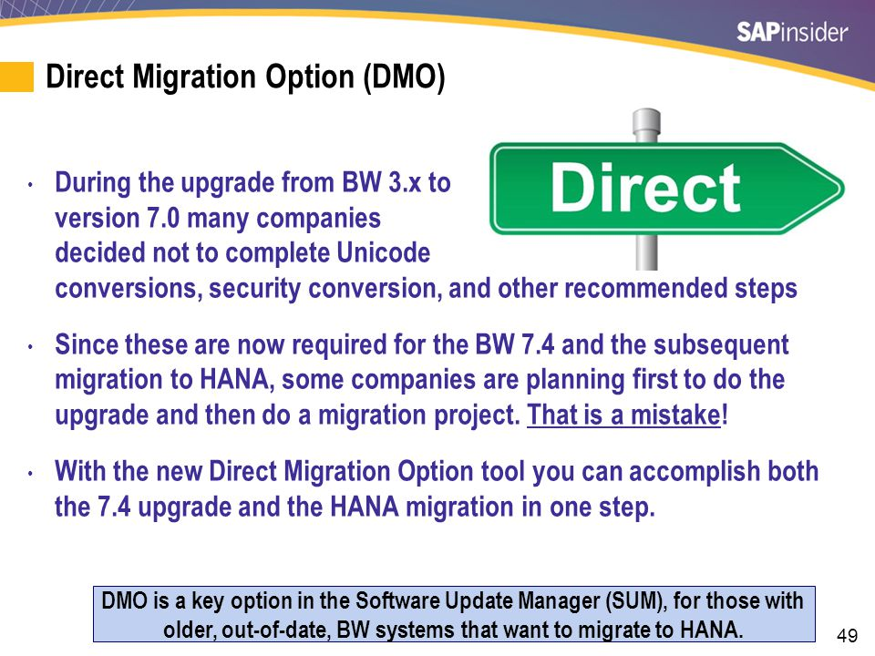 Creating a DMO Migration Run-Book