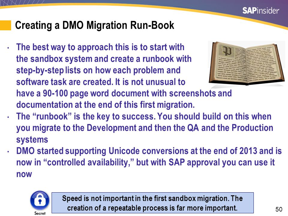 A 108 Step Example of a DMO Migration Runbook
