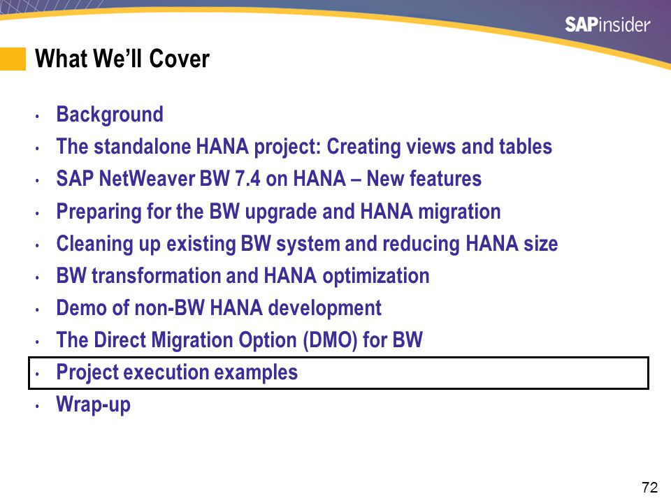 An Example of a Mid-Sized (10 TB) HANA DMO Migration Plan