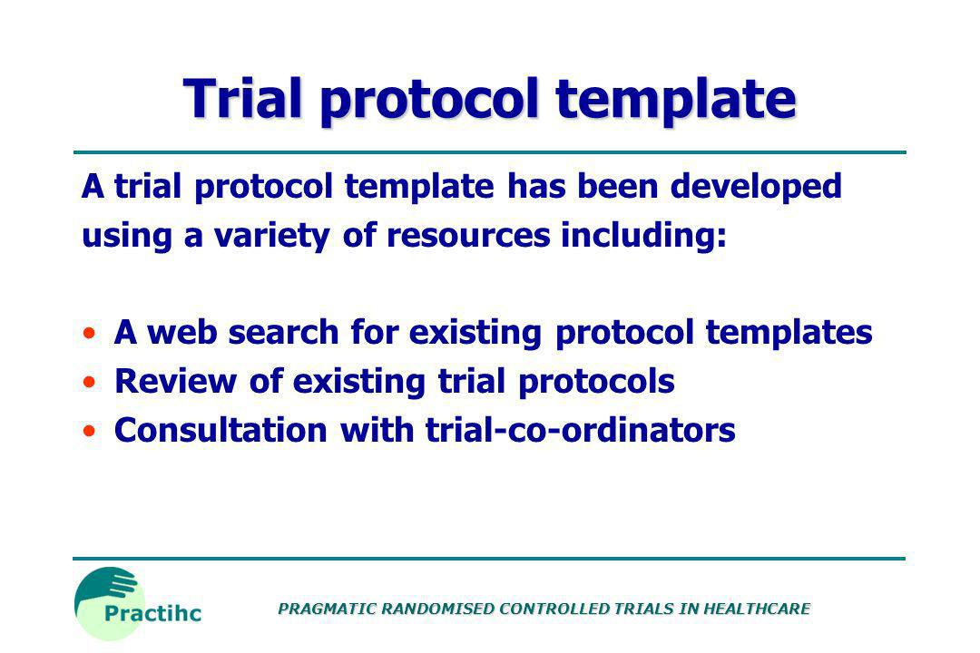 Trial protocol template