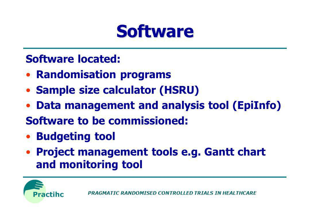 Software Software located: Randomisation programs