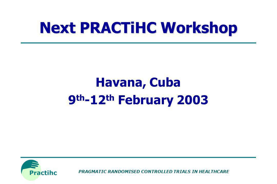 Next PRACTiHC Workshop