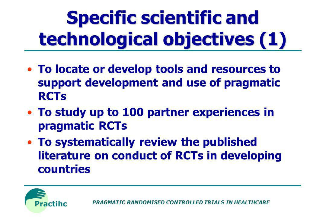 Specific scientific and technological objectives (1)