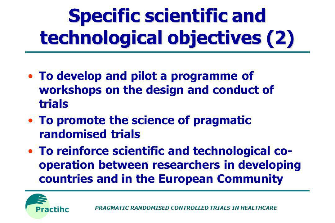 Specific scientific and technological objectives (2)