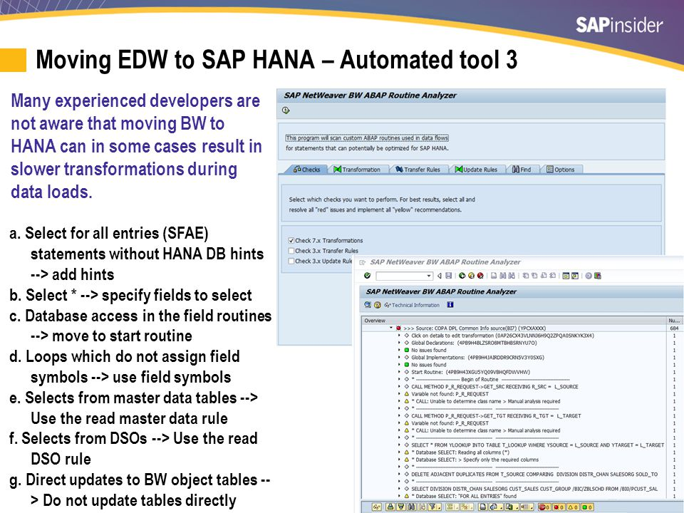 Hardware Options for EDW on SAP HANA