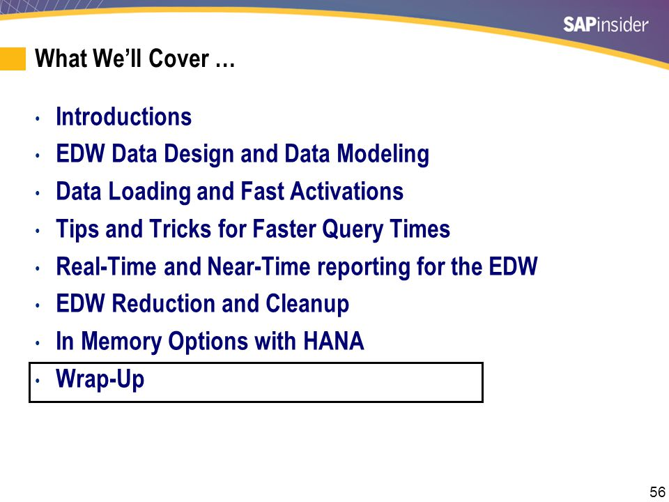 SAP BW Roadmap Source: SAP May 2013, https://scn.sap.com/docs/DOC-36273.