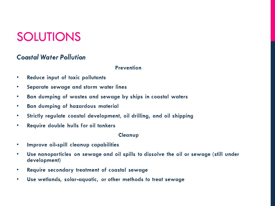 Solutions Coastal Water Pollution Prevention