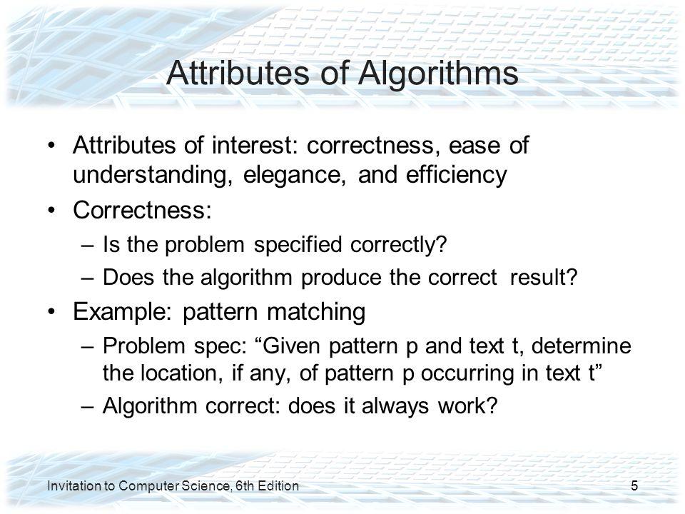 Attributes of Algorithms