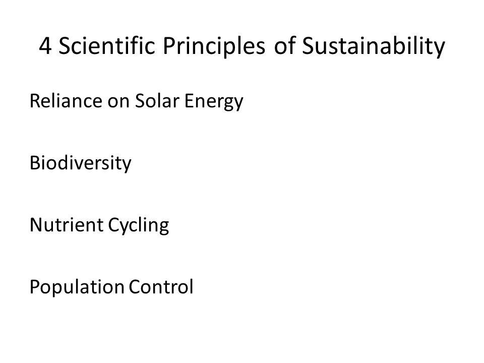 4 Scientific Principles of Sustainability