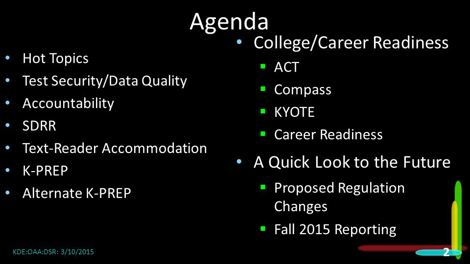 Agenda College/Career Readiness A Quick Look to the Future ACT Compass