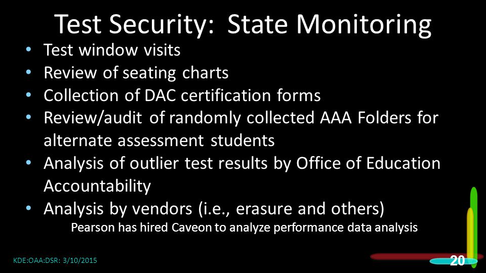 Test Security: State Monitoring
