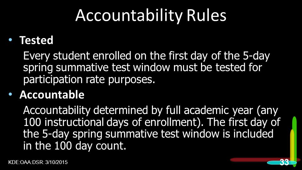 Accountability Rules Tested Accountable