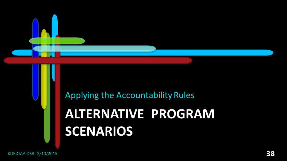 ALTERNATIVE Program Scenarios