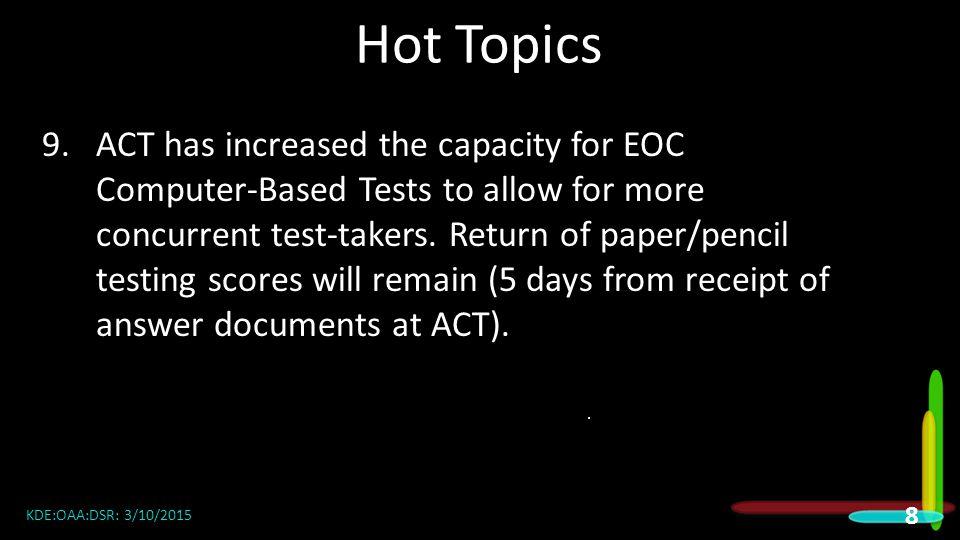 2015 DAC Meetings Hot Topics.