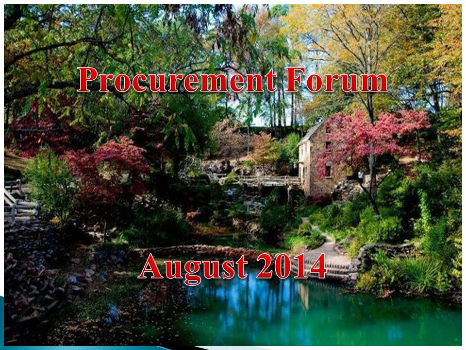 Procurement Forum August 2014