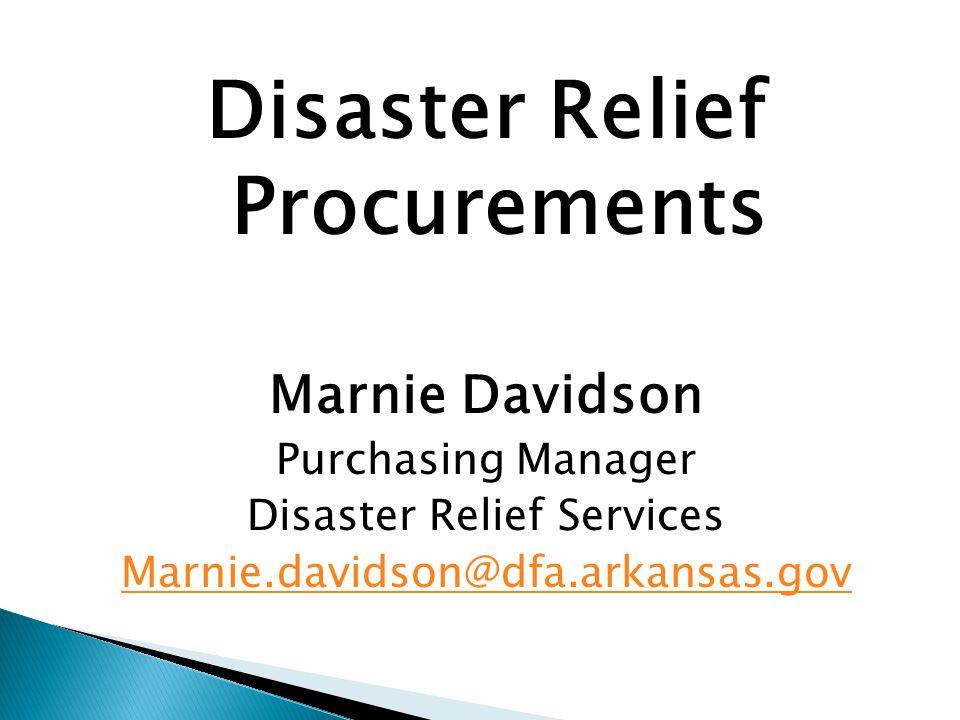 Disaster Relief Procurements