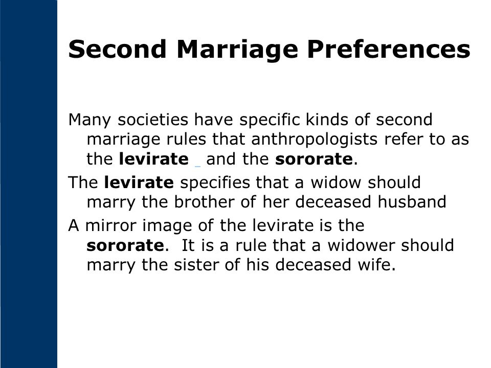 Second Marriage Preferences