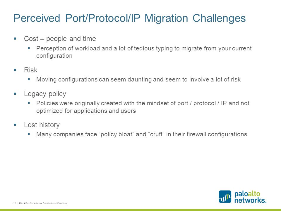 Perceived Port/Protocol/IP Migration Challenges