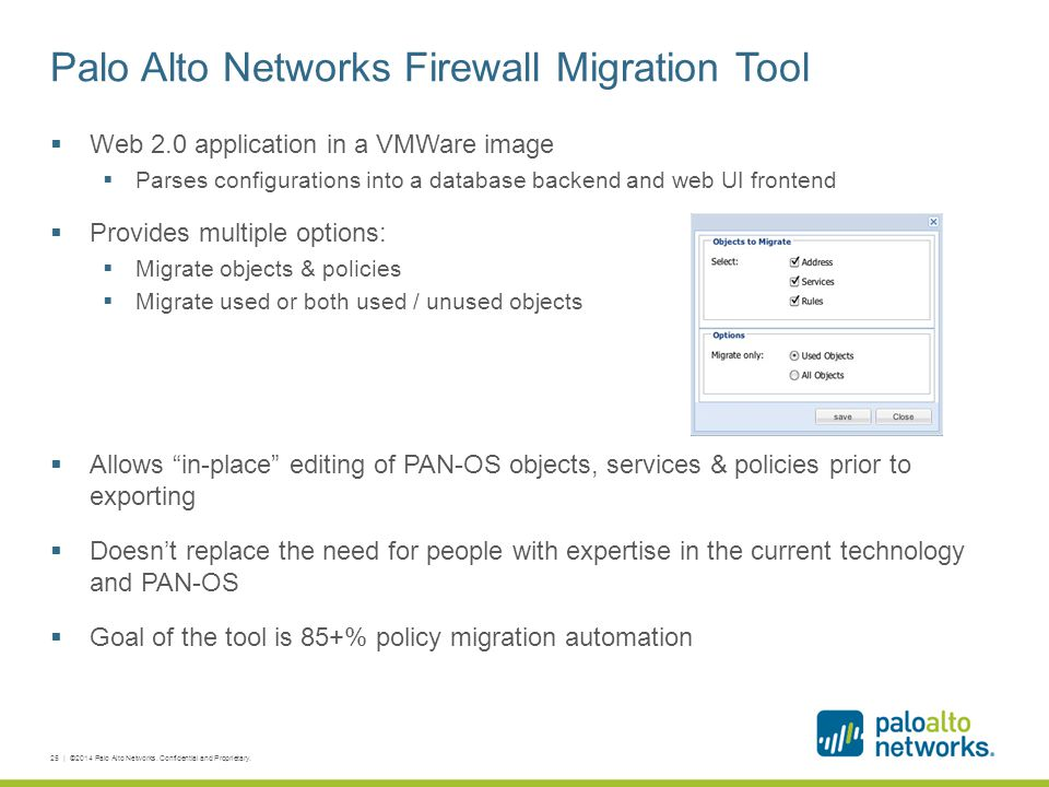 Palo Alto Networks Firewall Migration Tool