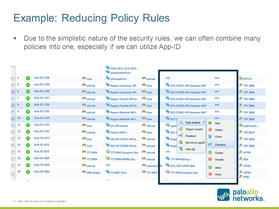Example: Reducing Policy Rules