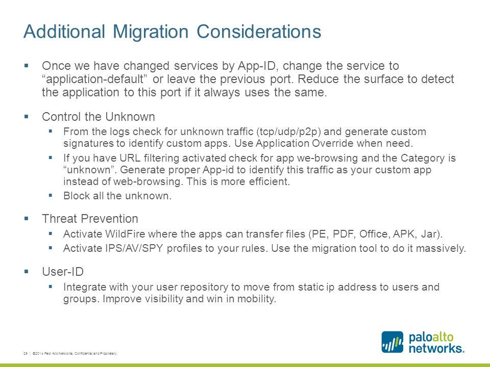 Additional Migration Considerations